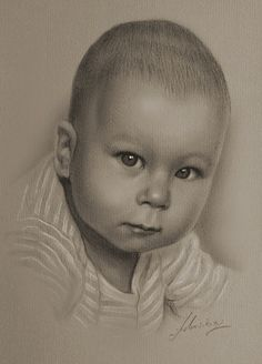 Discover The Secrets Of Drawing Realistic Pencil Portraits.Let Me Show You How You Too Can Draw Realistic Pencil Portraits With My Truly Step-by-Step Guide. Pencil Art, Pencil Drawings, My Drawings, Pencil Painting, Drawing Faces, Baby Drawing, Drawing For Kids, Children Drawing, Drawing Ideas