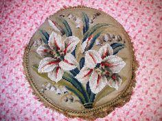 Beaded Berlin woolwork cushion | Flickr - Photo Sharing!