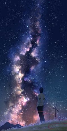 Art scenery - Best of Wallpapers for Andriod and ios Night Sky Wallpaper, Anime Scenery Wallpaper, Anime Backgrounds Wallpapers, Animes Wallpapers, Galaxy Wallpaper, Anime Artwork, Cute Wallpapers, Sky Anime, Anime Galaxy
