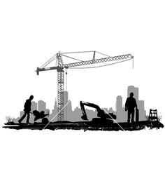 Construction vector 351046 – by jackrust on VectorStock® - Meraviglie Architettoniche Crane Construction, Construction Logo Design, Construction Business, Civil Engineering Design, Civil Engineering Construction, Arquitectura Logo, Ing Civil, Oil Rig Jobs, Modern Logo