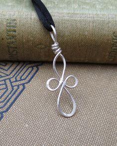 Little Loopy Celtic Cross Silver Wire Pendant by nicholasandfelice