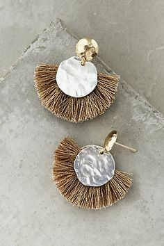 Rising Sun Drops. Make these from some MOP coin beads. #anthropologie