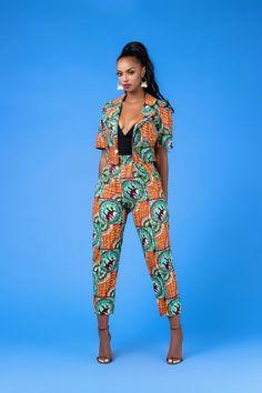 African Print Tinna Blazer – Ufumbuzi - Home African American Fashion, African Fashion Ankara, African Print Fashion, Africa Fashion, African Attire, African Wear, African Dress, African Style, African Design