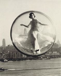 Sokolsky, Melvin:  Over New York, 1960, Later Print.