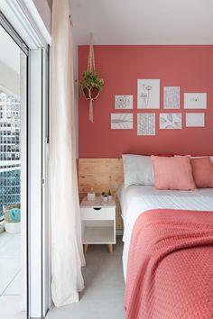 203 Transforma # bedroom with balcony Bedroom Wall Colors, Bedroom Decor, Coral Room Decor, Bedroom Signs, Bedroom Ideas, Master Bedroom, Decorate Your Room, Bedroom Styles, Bedroom Makeovers