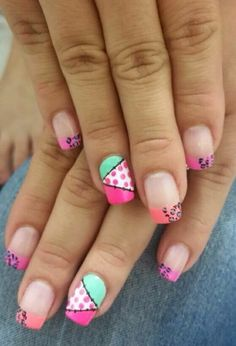 Uñas Funky Nail Art, Funky Nails, Glam Nails, Love Nails, Beauty Nails, Pretty Nails, My Nails, Toe Nail Art, Acrylic Nails