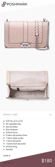 c14941f05e REBECCA MINKOFF Small Love Leather Crossbody Bag