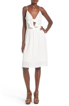Leith Tie Front Dress available at #Nordstrom