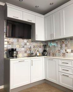 Easy Home Decor, Home Decor Kitchen, Kitchen Interior, Kitchen Design, Compact Kitchen, Kitchen Storage, Sweet Home, Kitchen Cabinets, Interior Design