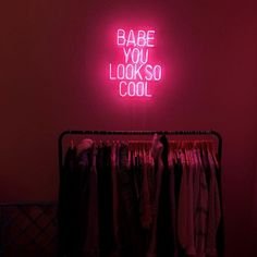 Babe You Look So Cool Real Glass Neon Sign For Bedroom Garage Bar Man Cave Room Home Decor Handmade Artwork Wall Lighting Includes Dimmer Cool Neon Signs, Custom Neon Signs, Neon Light Signs, Led Neon Signs, Neon Signs For Sale, Indie Room, Neon Aesthetic, Aesthetic Room Decor, Room Ideas Bedroom