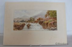 Delightful Scottish Landscape Watercolour Painting depicting a view of The Falls Of Falloch, Loch Lomond  A well executed original painting signed by the artist - G A Phillips  Believed to date from the Victorian era - late 19th Century Mounted / Unframed