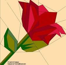 1 of 5 of my FAVORITE Paper Piecing Quilt Block Patterns of Natural shapes, Animals and Flowers ** a lovely ROSE quilt Free Paper Piecing Patterns, Barn Quilt Patterns, Pattern Blocks, Pattern Paper, Paper Patterns, Patchwork Patterns, Flower Patterns, Foundation Paper Piecing, Patchwork Quilting