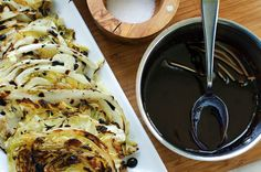 Roasted Cabbage with Quick Balsamic Reduction