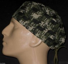 MOOSE CAMMO CAMOUFLAGE SCRUB HAT   BRUSHED COTTON   FREE USA SHIPPING Surgical  Caps 2bb999e47bb3