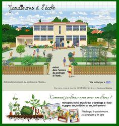 Un site dédié au jardinage à l'école avec beaucoup d'idées, de documentation et d'outils pour qui voudrait se lancer dans l'aventure passionnante du jardinage à l'école.                                                                                                                                                                                 Plus