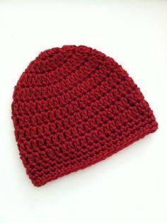 Red Beanie Crochet Baby Hat Newborn Hat by LakeviewCottageKids, $15.00