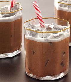 GREY GOOSE Cherry Noir Flavored Vodka, Peppermint Schnapps, heavy cream and chocolate syrup combine for rich winter taste.