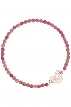 HEARTS Rhodonit Armband rosé vergoldet