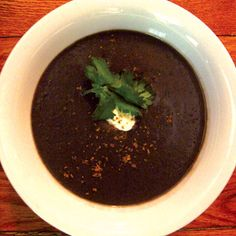 Black Bean and Cilantro Soup