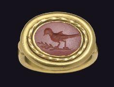 A ROMAN RED JASPER RING STONE CIRCA 2ND-3RD CENTURY A.D.