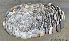 Stone art in Hungary by tamas kanya Land art
