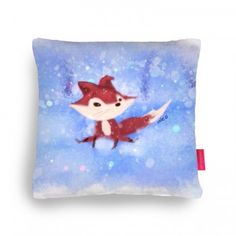 The fox in the snow  Cushion By me :)