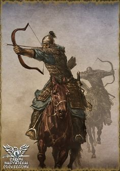 Tattoo Finka Mongol horse archers charging into battle High Fantasy, Medieval Fantasy, Hungary History, Genghis Khan, Classical Antiquity, Military Art, Tibet, Fantasy Characters, Middle Ages