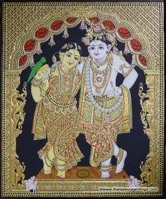 Tanjore Paintings of Radha Krishna