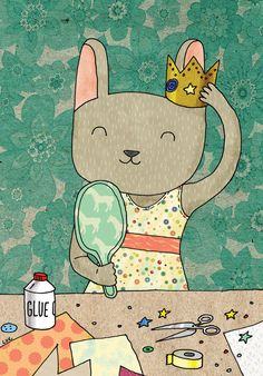 Greeting+card++Little+princess+by+lukaluka+on+Etsy,+$5.00