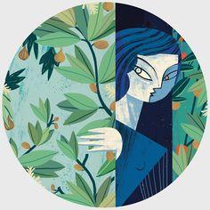 illustrazioni cubiste di gosia herba