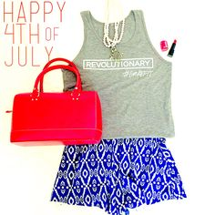 @refitrev revolutionary tank top.  Great Fourth of July outfit!