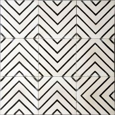A maze of black and white tiles. Glam Tiles by Jeanine Hays on Houzz. contemporary floor tiles by Marrakech Design Floor Patterns, Tile Patterns, Textures Patterns, Print Patterns, Floor Design, Tile Design, Pattern Design, Design Bathroom, Ceramic Design