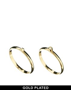 Enlarge ASOS Gold Plated Fine Ring Pack