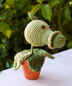 Amigurumi Pea Shooter from Plants Vs Zombieshand crocheted by ArtyChickStudios on Etsy