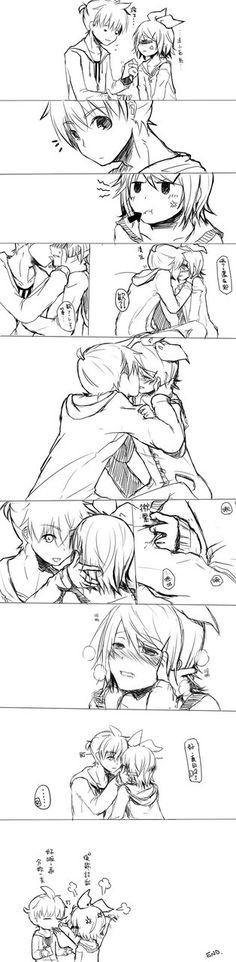 Kagamine Rin x Len Sweet Kiss