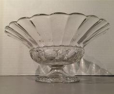 Vintage Clear Glass Bowl Retro Centerpiece 1940s                         – Vintage Love Antiques