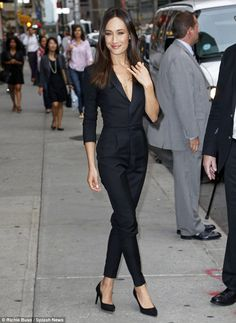 Camera ready: Maggie Q arrived for her appearance on the Late Show With David Letterman in New York City on Tuesday