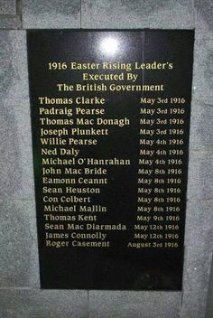 This should never have been!  And their deaths should not be in vain!!  Never forget those who sacrificed everything  for Ireland, and those that still are!!   ♣