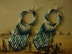 Native American beaded earrings by BossanovaCowgirl on Etsy, $25.00