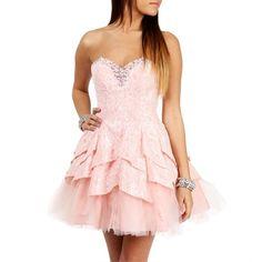 Masquerade Annaca-Blush Pink Prom Dress ($130) ❤ liked on Polyvore