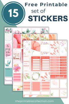 Summer Planner, To Do Planner, Free Planner, Happy Planner, Planner Ideas, Planner Supplies, Happy Stickers, Free Printable Stickers, Free Printables