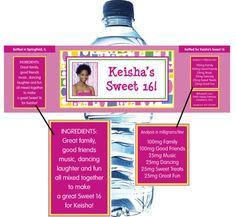 Cute water bottle idea!