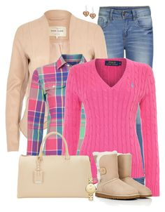 """""""Plaid shirt & sweater"""" by ginga1203 ❤ liked on Polyvore featuring ONLY, River Island, Polo Ralph Lauren, UGG Australia, Jil Sander and Movado"""