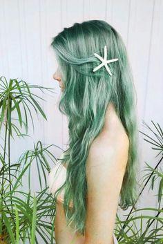 Mermaid green hair♡