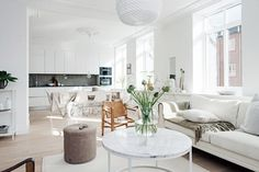 The Most Stylish Rooms Where All White Rules via @mydomaine
