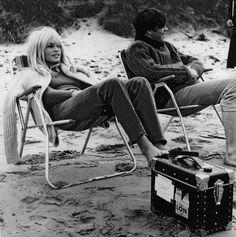 bridgette bardot at the beach