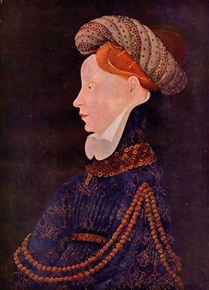 Unknown artist Franco-Burgundian circle. Portrait of a Woman, ca. 1410-1420. Washington, National Gallery.