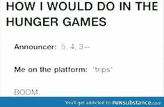 What I would do in the hunger games..