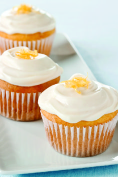 Lemon-Cream Cheese Cupcakes – These sweet treats are all about the citrus zing. This moist lemon cupcake recipe are nestled under cream cheese frosting with a tangy zest.