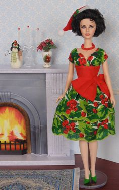 Holly Berry for Silkstone Barbie by Hankie Chic on Etsy now